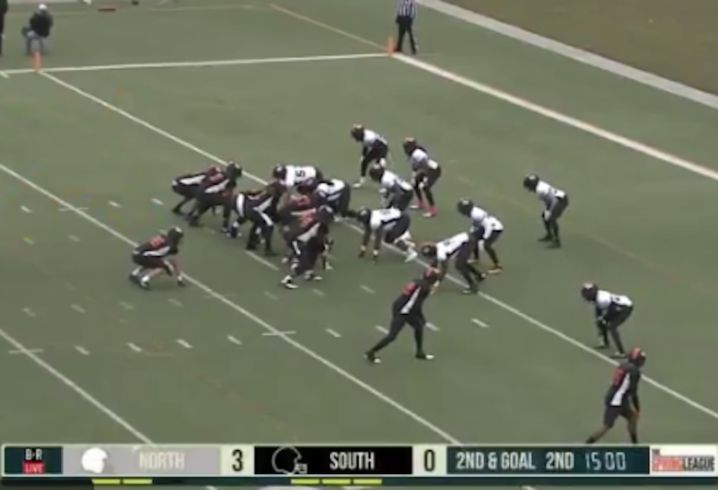 Johnny Manziel tosses touchdown pass in Spring League game