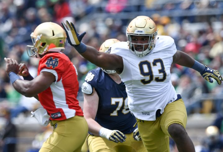 Sorry Sooners, Notre Dame DL Jay Hayes is now going to Georgia