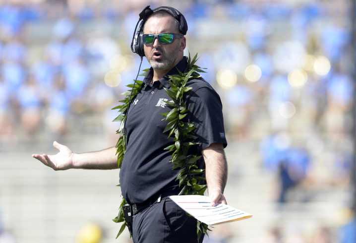 Hawaii coach accuses Oregon State of recruiting its players