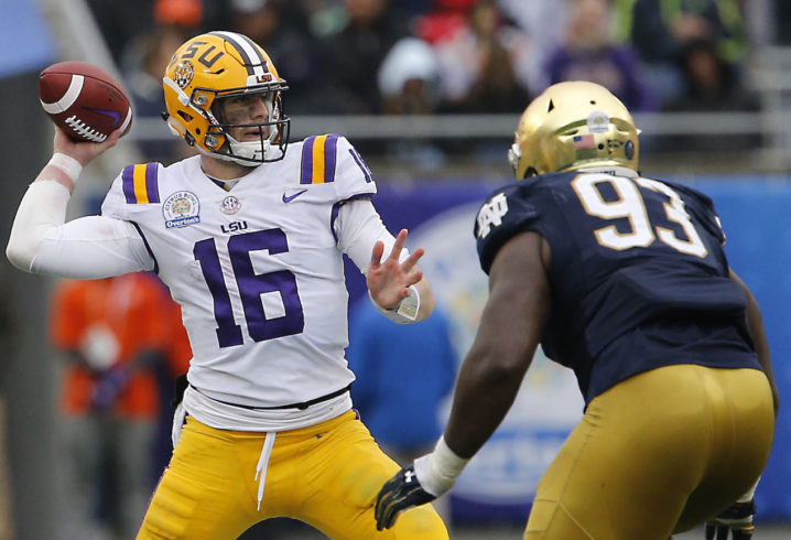 LSU QB Target Joe Burrow Visiting North Carolina