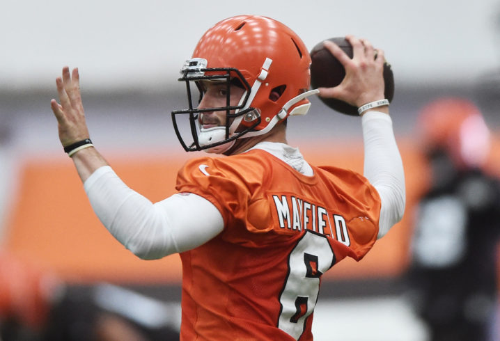 Mayfield looks good, but Taylor is still Browns' starting QB, says Jackson