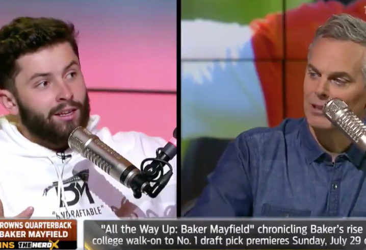 Baker Mayfield doesn't back down in front of Colin Cowherd