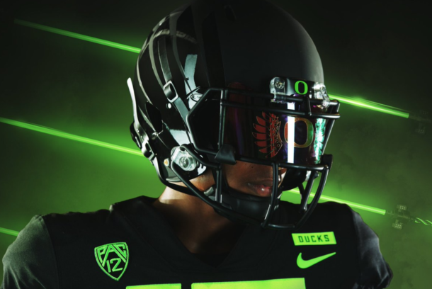 PHOTOS  Oregon unveils wild new uniform combination for Saturday s game f5856233b