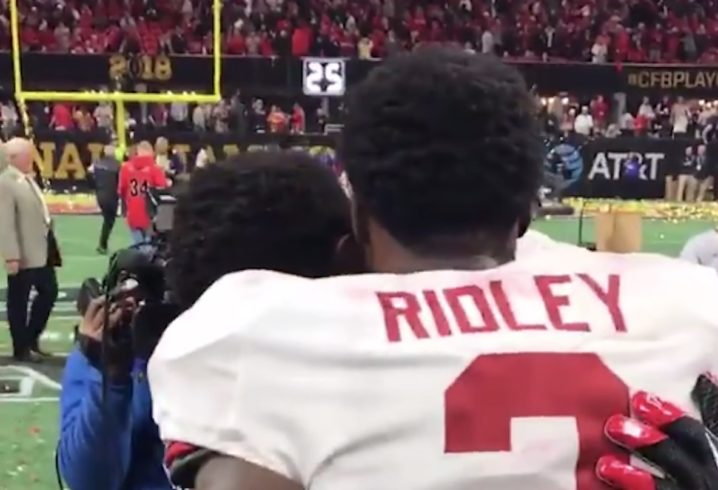 Ridley brothers exchange jerseys in touching moment after Alabama beat Georgia