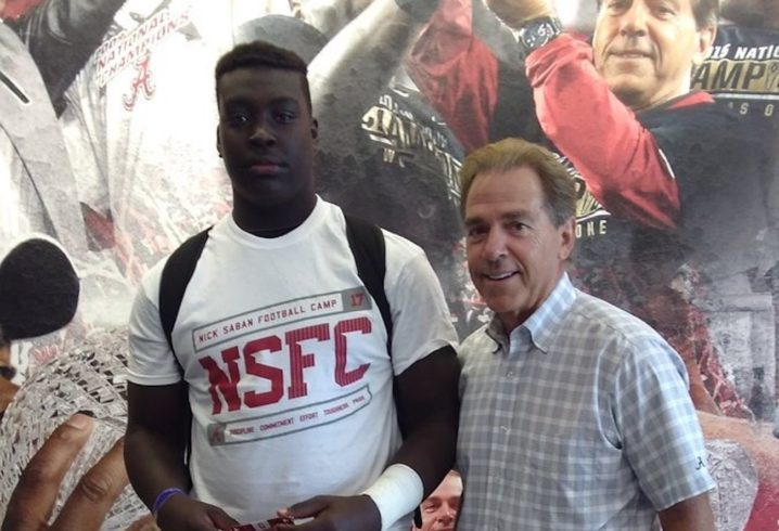 Alabama among SEC schools recruiting ginormous eighth-grader