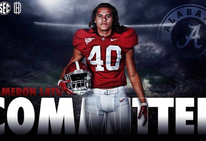 4-star DE Cameron Latu commits to Alabama