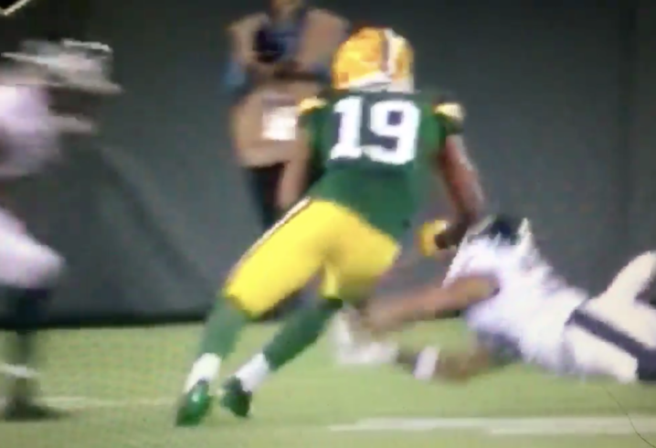 Packers WR Malachi Dupre carted off after vicious hit