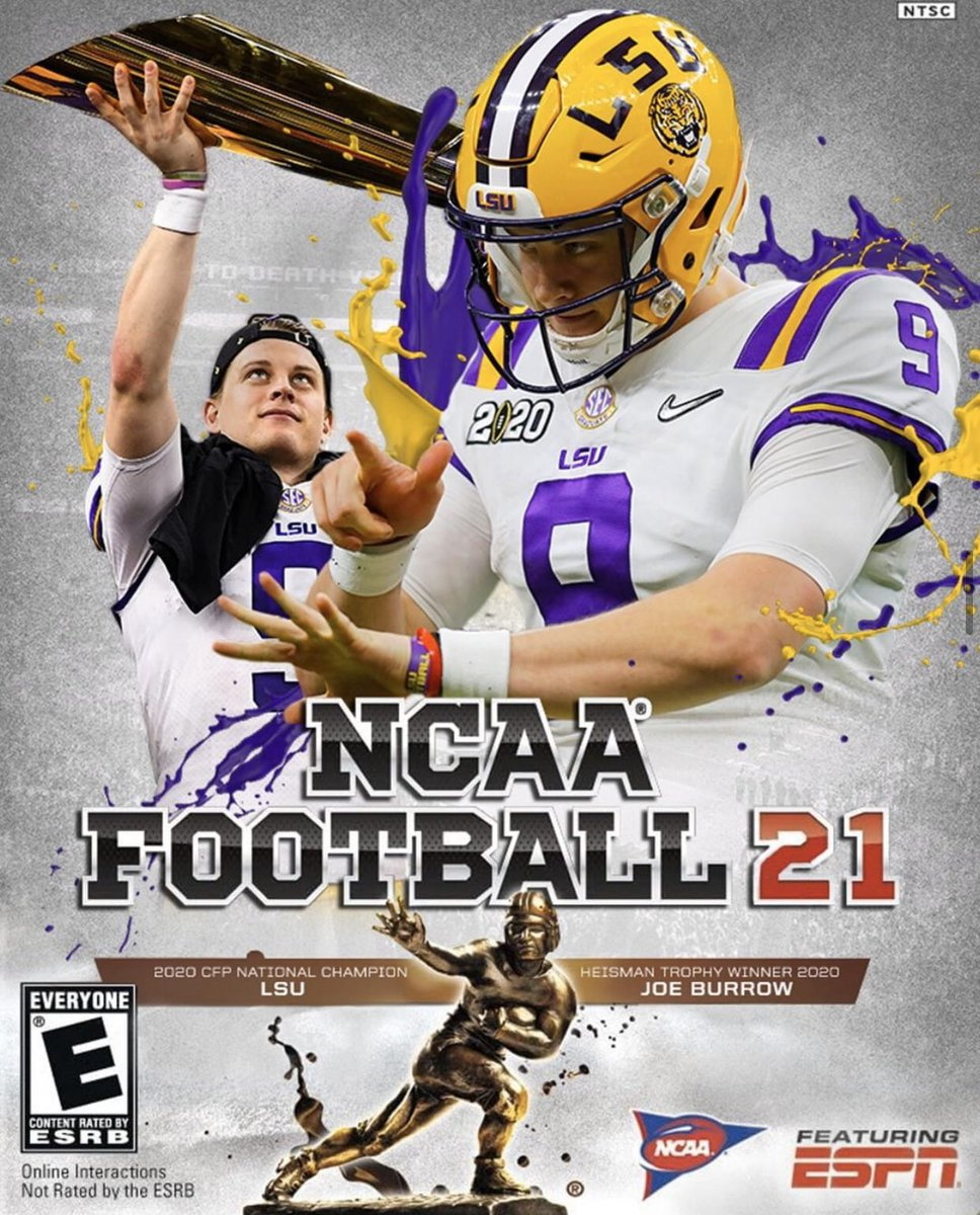 Joe Burrow mock 'NCAA Football 21' cover has us wishing for return ...
