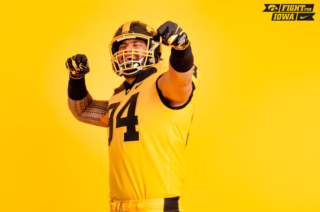 check out ceb3e c075a LOOK: Did Iowa just unveil the boldest new uniforms of season?