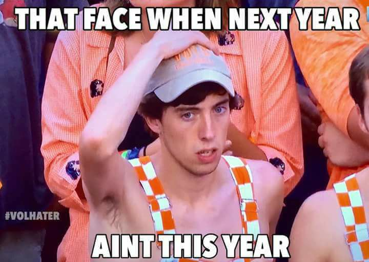 Viral Tennessee football memes from recent years